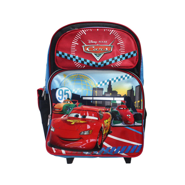 "Cars Red Rolling Backpack 16"" 26-72-0026"