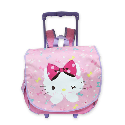 Hello Kitty Ribbon Trolley Bag Backpack Purple 16Inch 50115-00055