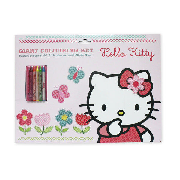 Hello Kitty HOME SWEET HOME Giant Colouring Set Stationery Pink A3 50155-00034