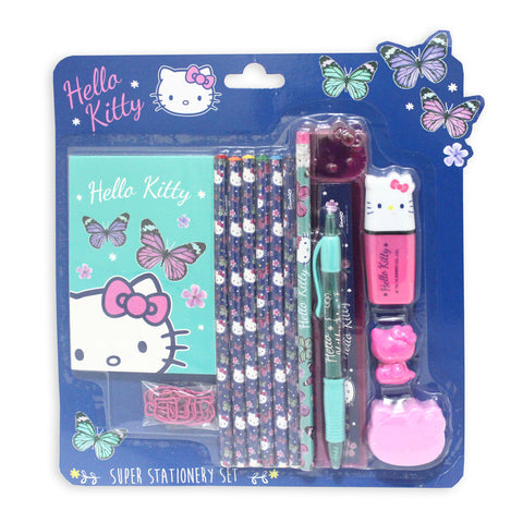 Hello Kitty Butterfly Super Stationery Set Navy 50163-00184