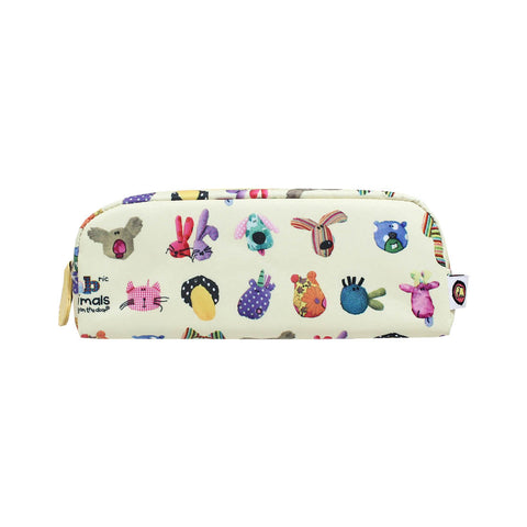 Bang on the Door Animal Pats Stationery Pencil Case Beige 72-23-0020