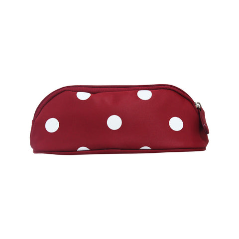 Bang on the Door Polka Penguin Stationery Pencil Case Red 72-23-0033