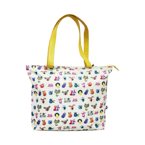 Bang on the Door Animal Pats Bags Tote Beige 72-71-0007