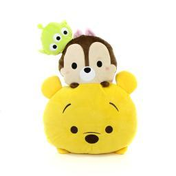 TSUM TSUM Pooh, Chip & Little Green Man Stackable Cushion 3