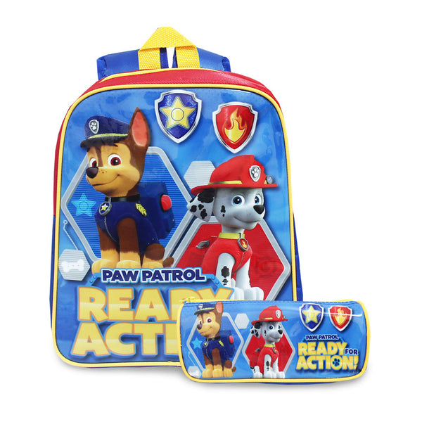PAW PATROL Ready Action Backpack 2in1 12inch Backpack & Pencil Case 84-51-0001