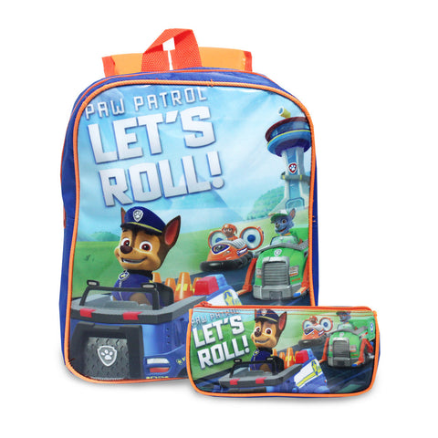 PAW PATROL Let's Roll Backpack 2in1 12inch Backpack & Pencil Case 84-51-0002