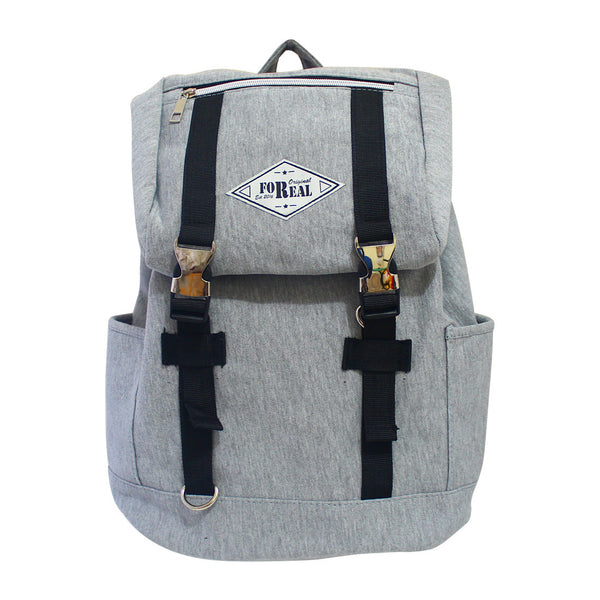 For Real Steady Canvass Backpack Grey 15 inch 85-71-0001