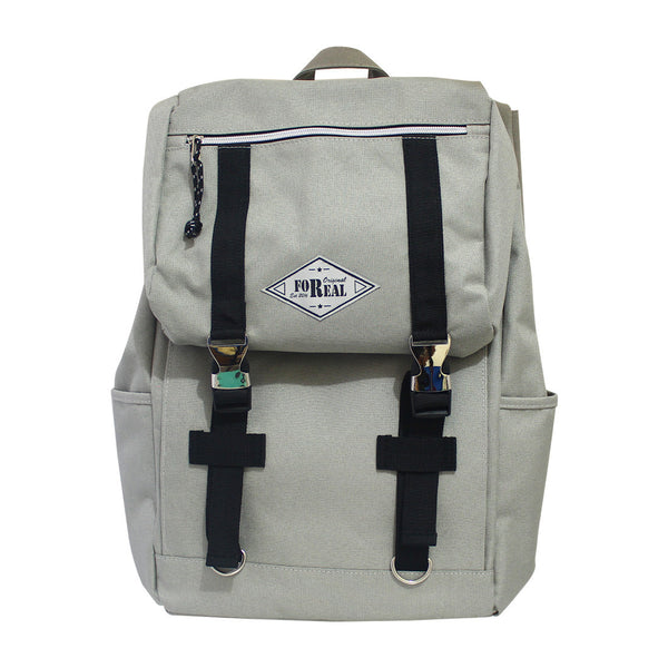 For Real Steady Canvass Backpack Beige 16.5 inch 85-71-0002
