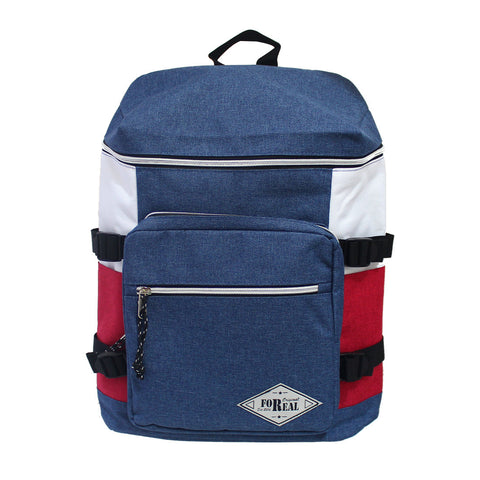 For Real Canvass Tricolor Backpack 17 inch 85-71-0003