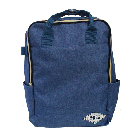 For Real Tuition Canvass Backpack Blue 15 inch 85-71-0004