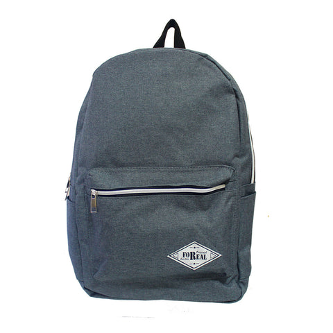 For Real Round Canvass Backpack Blue Grey 17.5 inch 85-71-0006