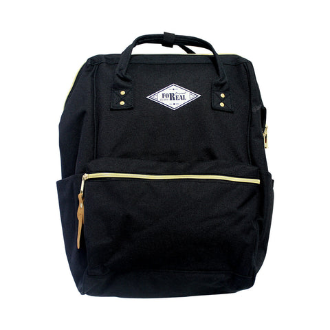 For Real Tuition Canvass w/ front pocket Backpack Black 15.5 85-71-0010