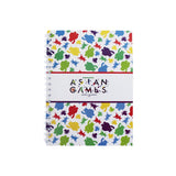 Asian Games Notebook with Pattern
