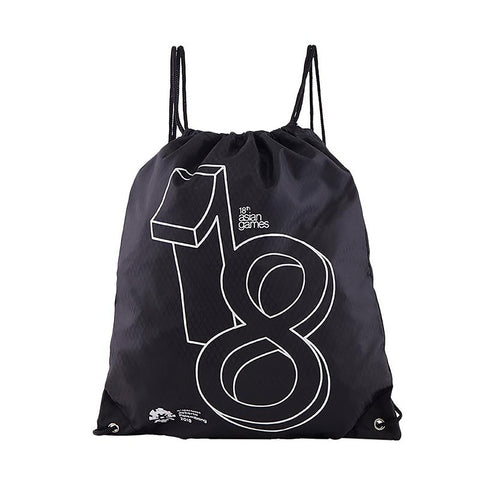 Asian Games Drawstring Bag Black