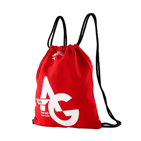 Asian Games Drawstring Bag Red