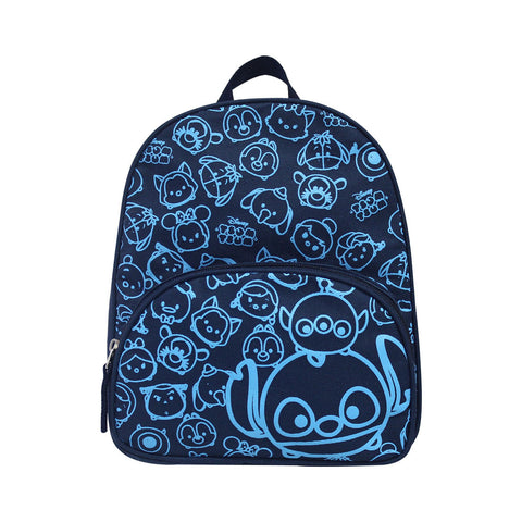 "Tsum Tsum Blue Stitch Backpack 10"" Navy Blue & Light Blue 81-51-0026"