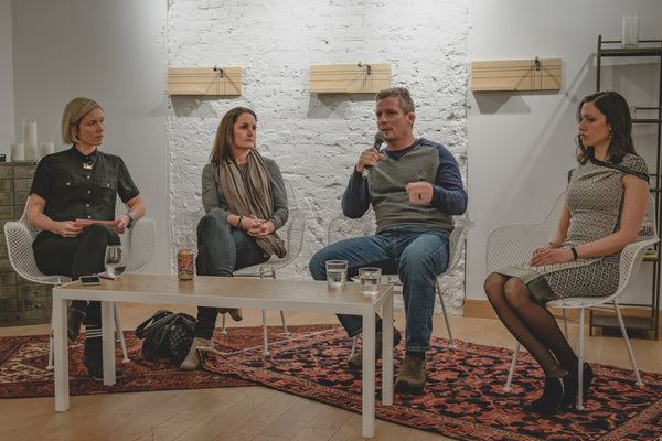 Panelists at the Run Collective Run Safety Awareness Week Event at Lululemon