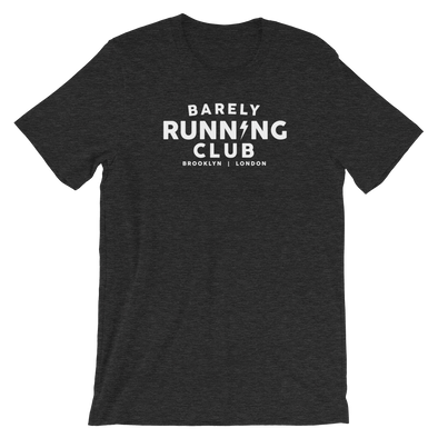 Barely Running Heathered Unisex Tee - Bakline