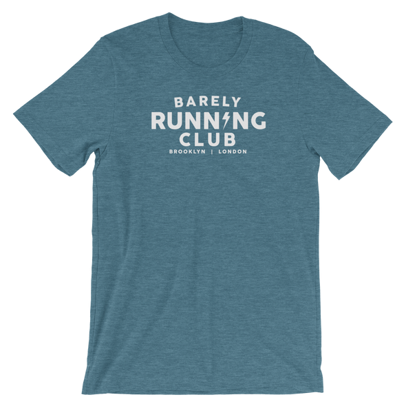 Barely Running - Heathered Tee - Unisex - Bakline
