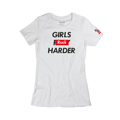 Girls Ruck Harder Cotton Short Sleeve