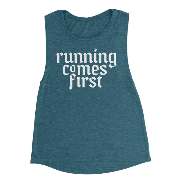 Running Comes First - Muscle Tank - Women's - Bakline