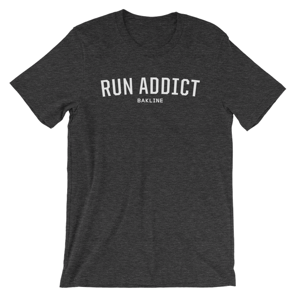 Run Addict Heathered Short Sleeve - Bakline