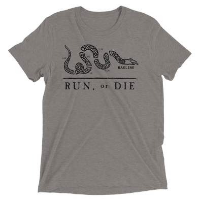 Run or Die Slim Fit Unisex Tee - Bakline