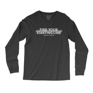 Find Your Starting Line Long Sleeve Slim Fit