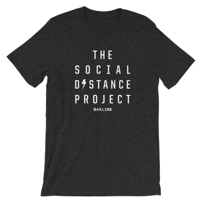 The Social Distance Project Heathered Unisex Tee - Bakline