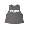 Limitless Heathered Racerback Crop Tank - Bakline