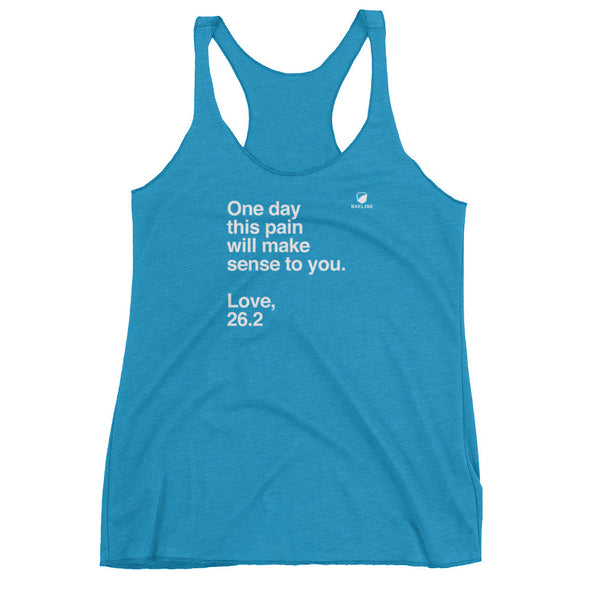 One Day, Love 26.2 Women's Racerback Tank - Bakline