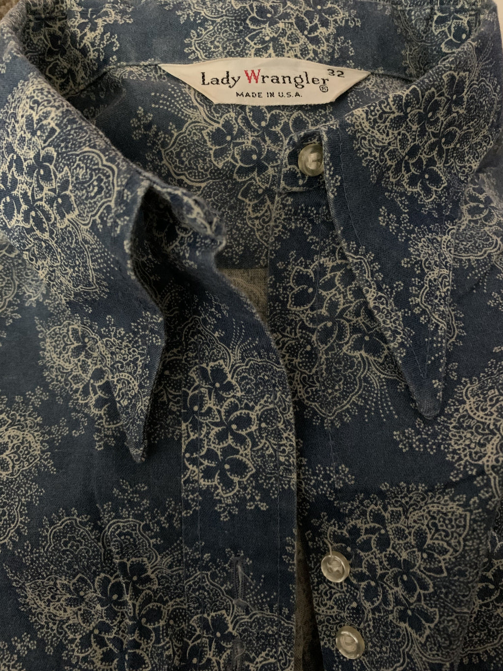 Vintage Lady Wrangler Button Up
