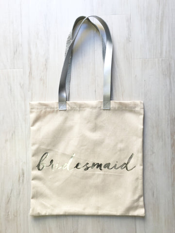 Rosanna Gifts Canvas Charm School Silver Bridesmaid Tote