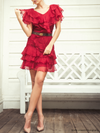 Pre-Loved Rachel Zoe Ginger Silk Ruffle Dress
