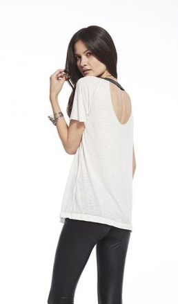 Chaser Disco Open Back Raglan T-shirt