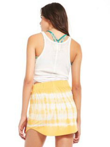 Chaser Tie-Dye Shirttail Mini Skirt