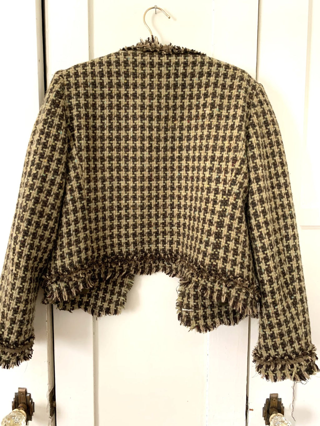 Vintage Moschino Brown & Olive Tweed Jacket