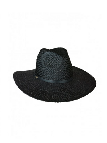 Ace of Something Black Straw Diaz Fedora