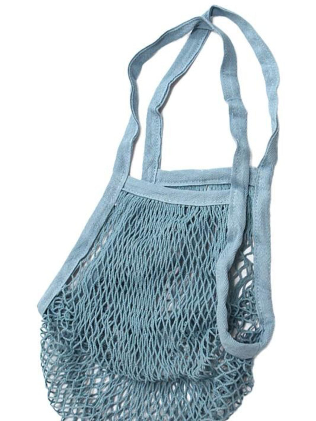 Blue French Style Net Market Bag