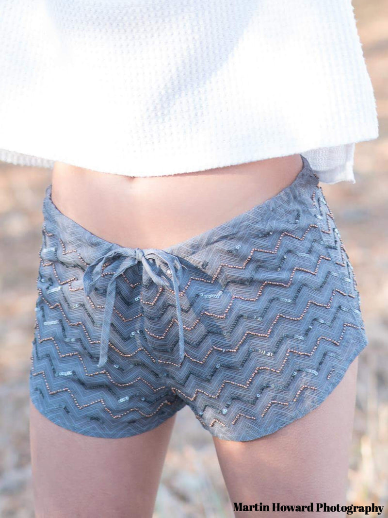 Chaser Sequin and Beaded Shorts