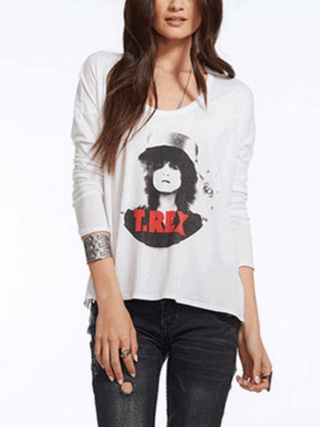 Chaser Graphic T.Rex Slider Long Sleeve Flowy Tee