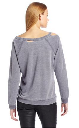 Chaser Deconstructed Fleece Foreigner Raglan Sweatshirt