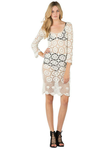 Cleobella Hand Crochet Skyler Midi Dress