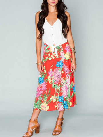 Show Me Your Mumu Tropical Tango Tea Party Midi Skirt