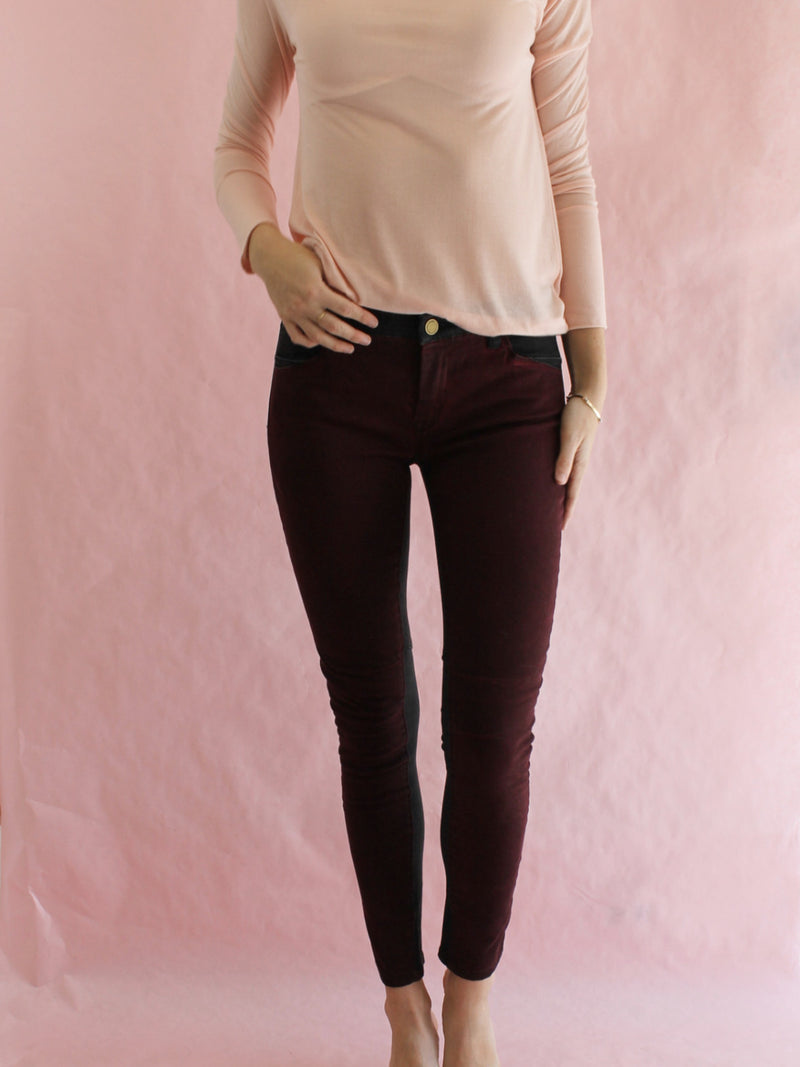 Blank NYC Black Cherry Skinny Spray On Jeans
