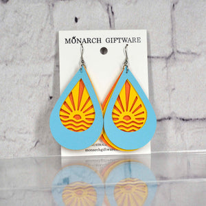 Sunset Vegan Leather Earrings