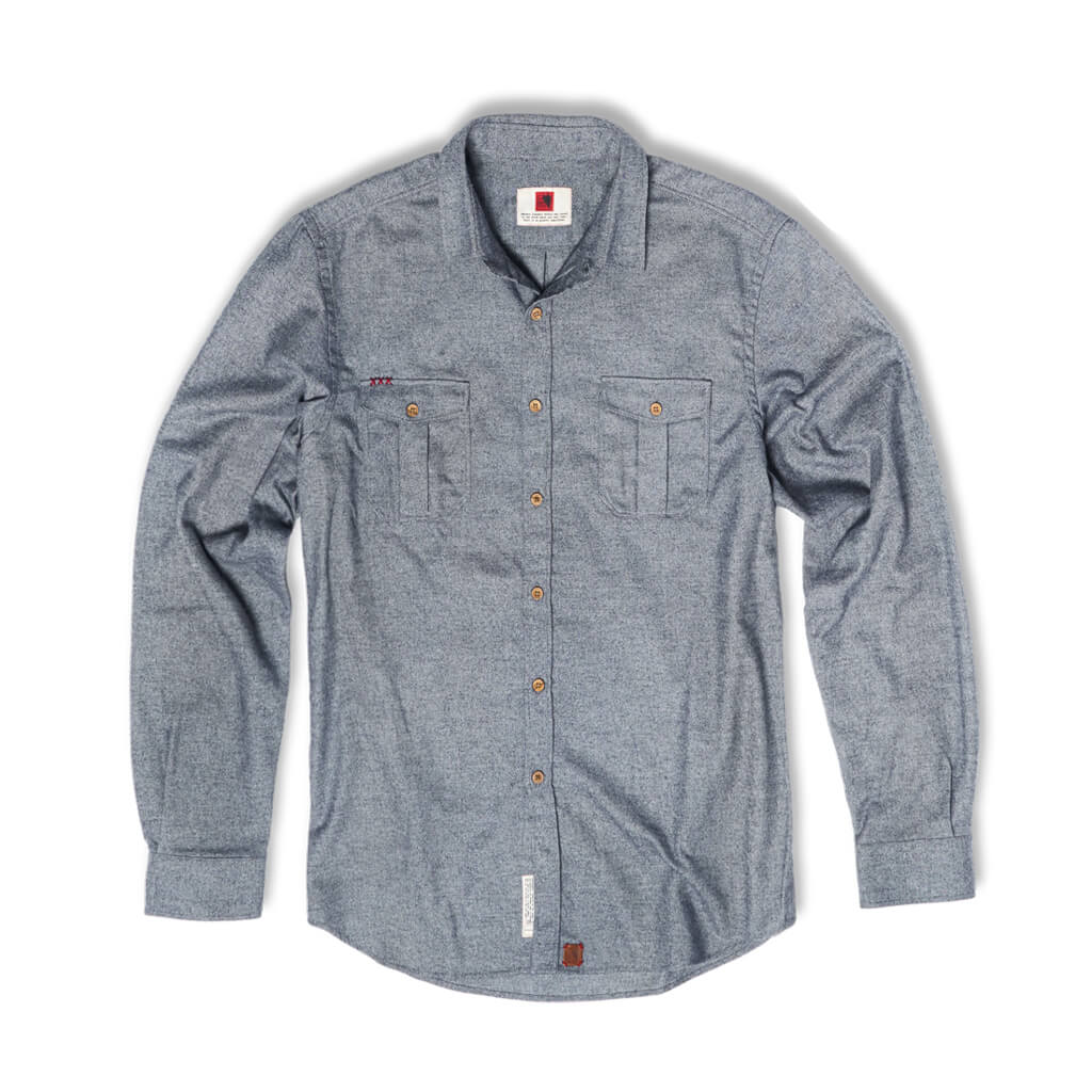 Grey flannel shirt Aquila chrysaetos. Welcome to the wolfpack.