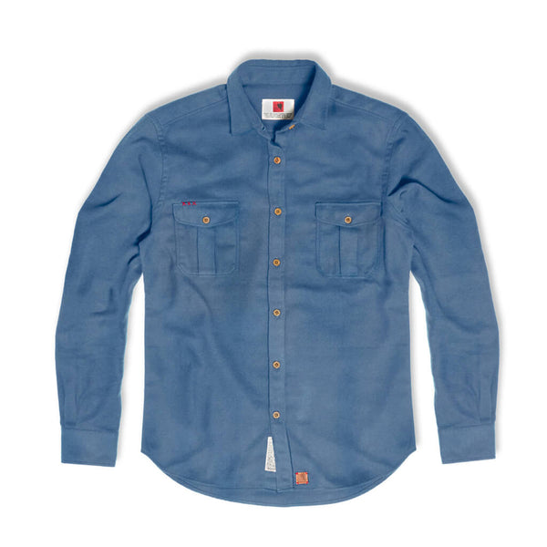 Bubo bubo blue flannel shirt | Indagatio