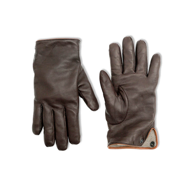 Brown leather gloves Falco peregrinus