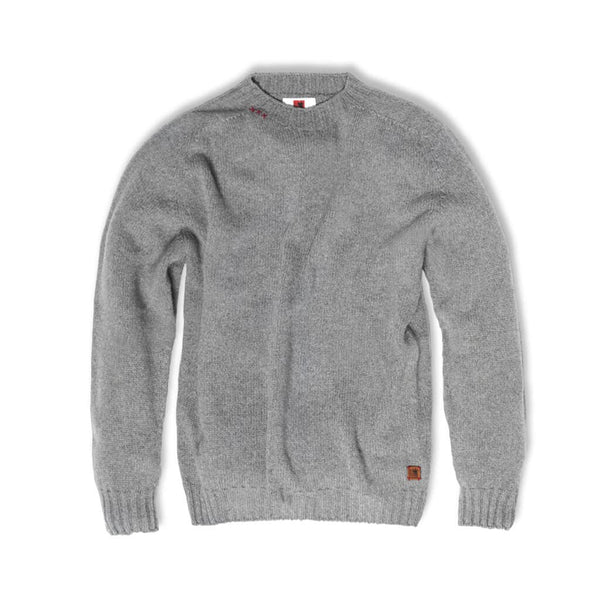 Grey wool sweater Felis silvestris. Welcome to the wolf pack.
